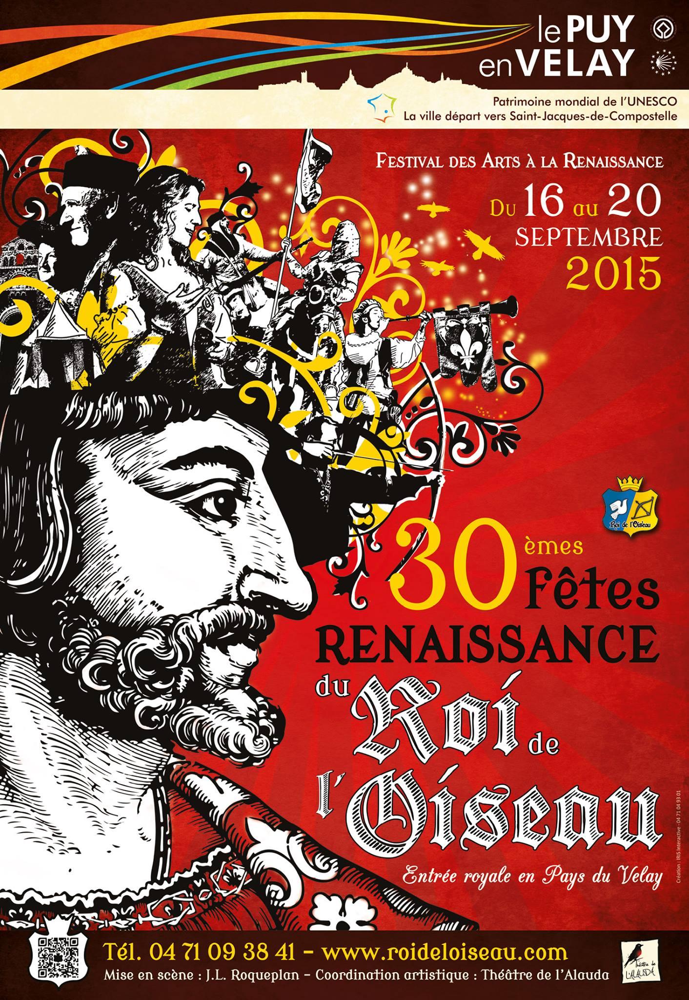 Design Creation Le Puy En Velay fêtes renaissance du roi de l'oiseau - du 16 au 20 septembre